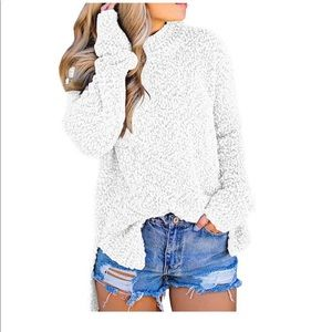 White Popcorn Sweater